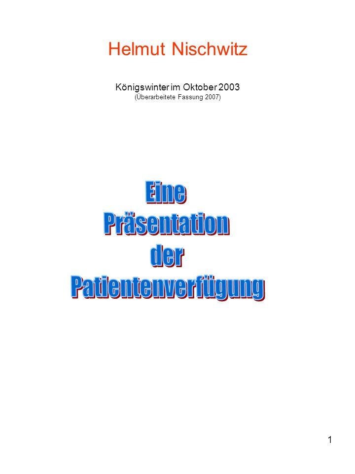 Eine Präsentation der Patientenverfügung
