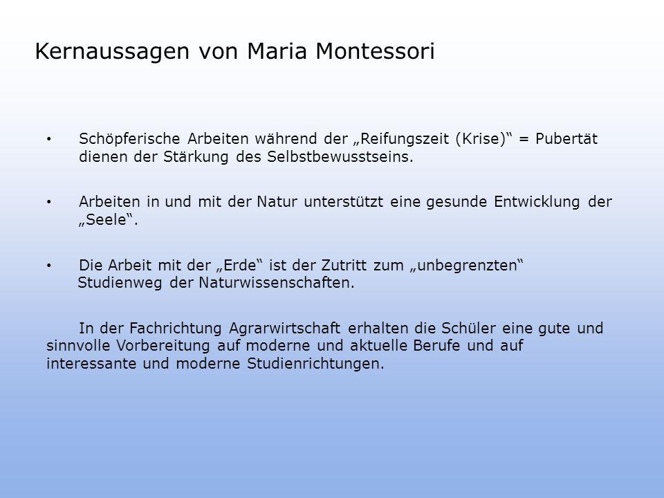 Kernaussagen von Maria Montessori