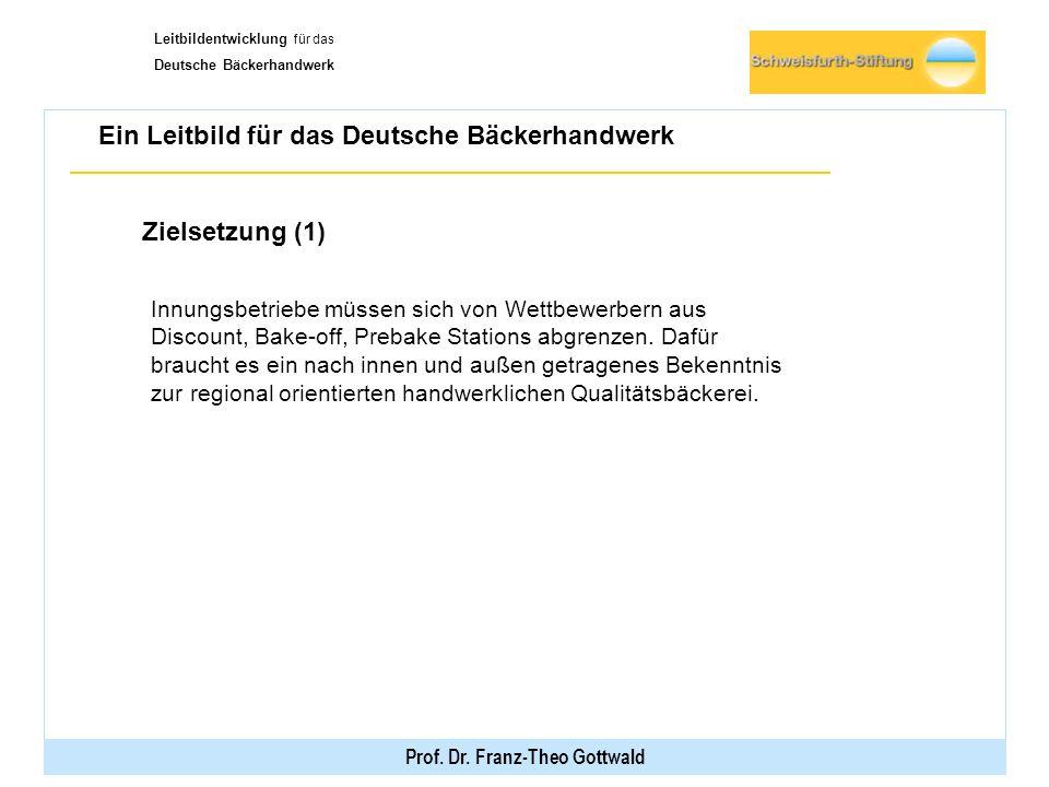 Deutsche Bäckerhandwerk Prof. Dr. Franz-Theo Gottwald