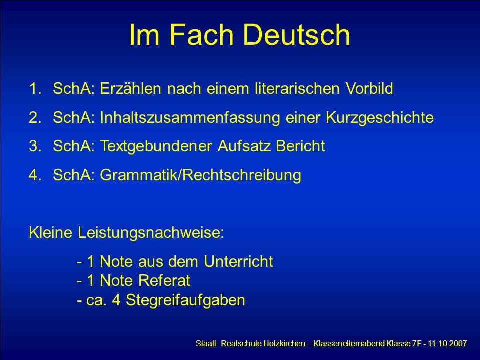 Im Fach Deutsch SchA: Erzählen nach einem literarischen Vorbild