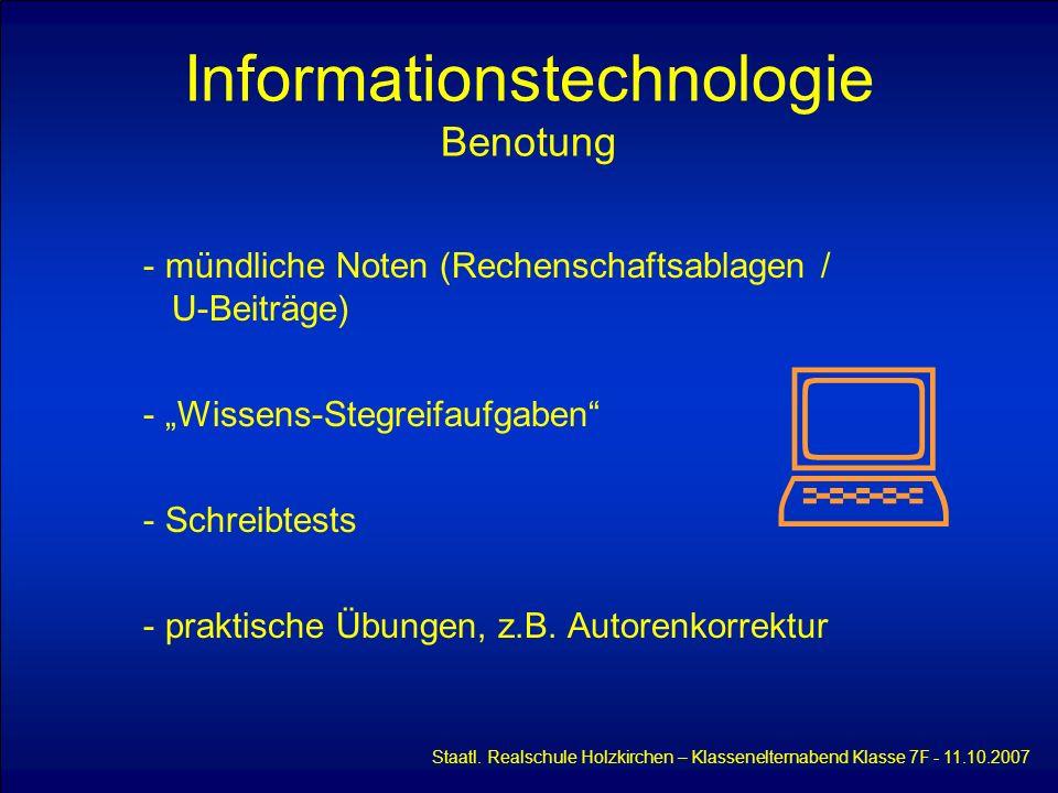 Informationstechnologie Benotung