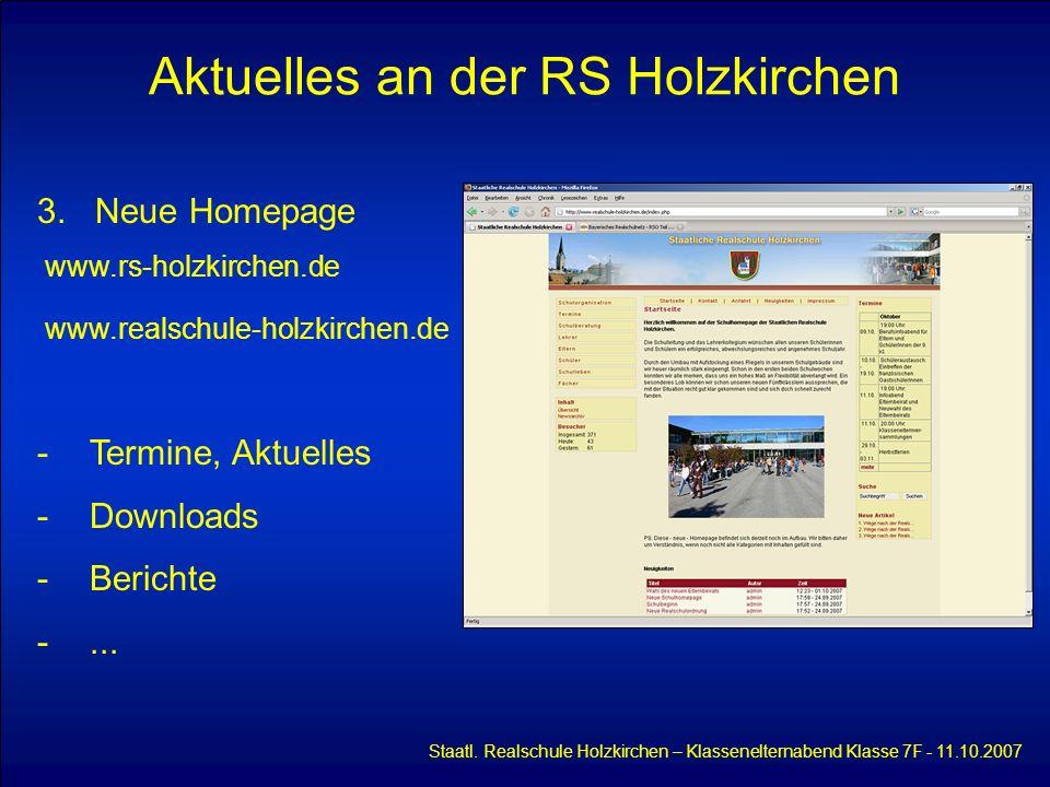 Aktuelles an der RS Holzkirchen