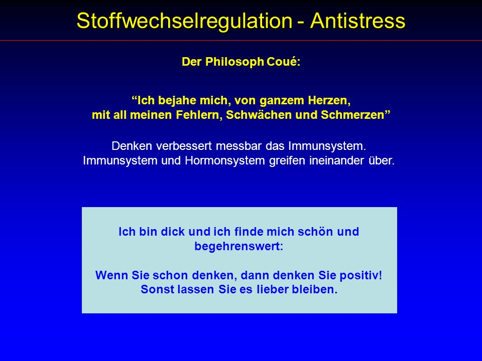 Stoffwechselregulation - Antistress