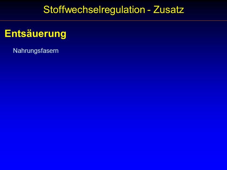 Stoffwechselregulation - Zusatz