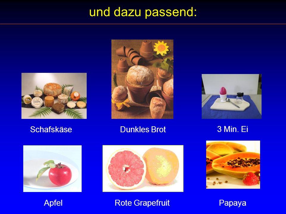 und dazu passend: Schafskäse Dunkles Brot 3 Min. Ei Apfel