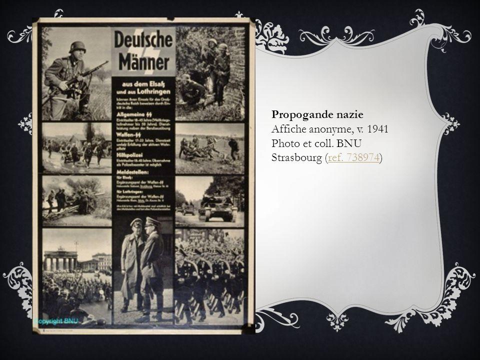 Propogande nazie Affiche anonyme, v. 1941 Photo et coll