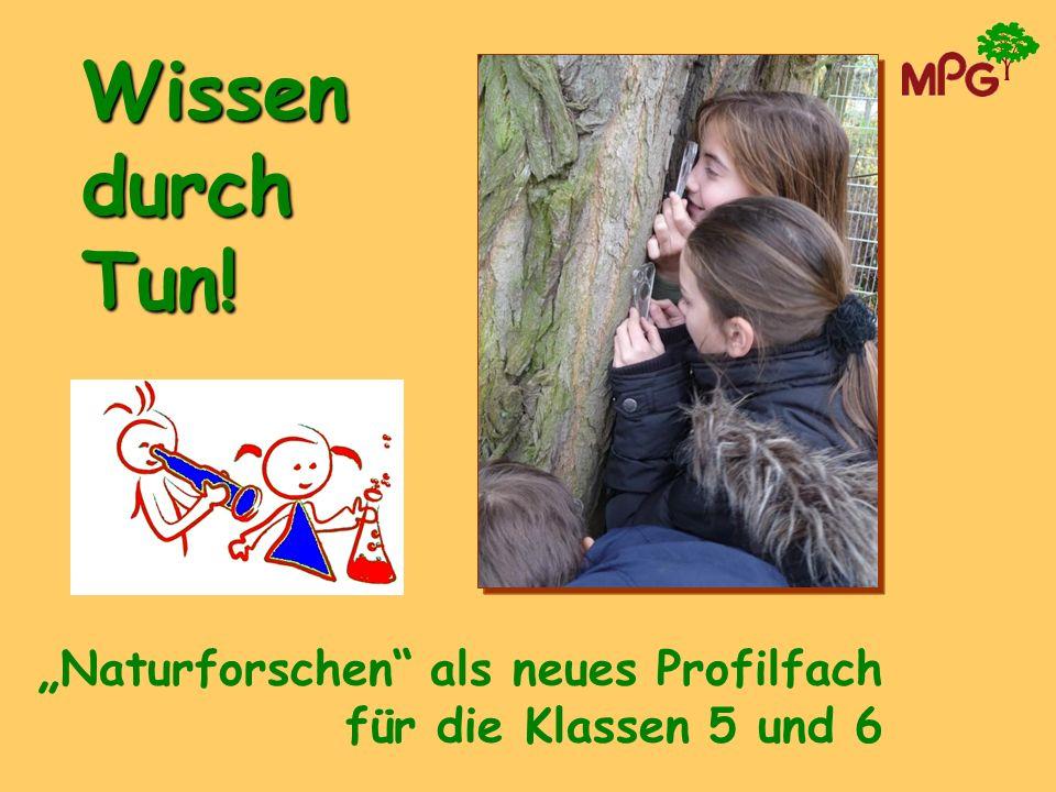 """Wissen durch Tun! """"Naturforschen als neues Profilfach"""