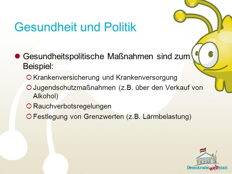 Gesundheit und Politik