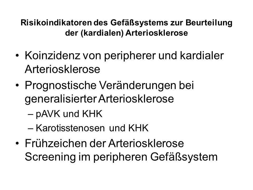 Koinzidenz von peripherer und kardialer Arteriosklerose
