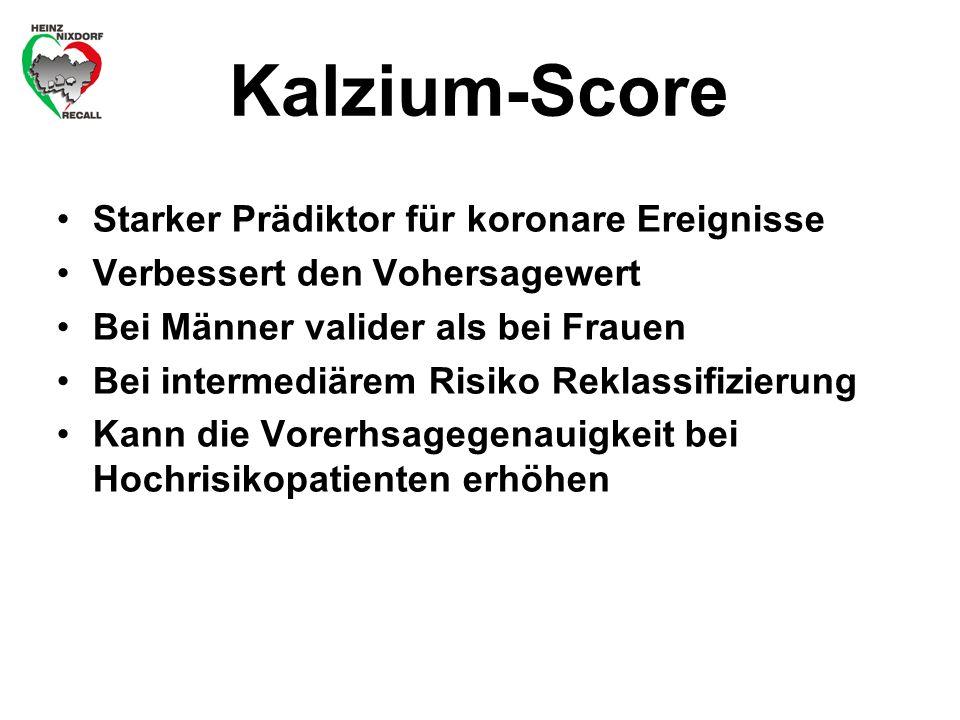 Kalzium-Score Starker Prädiktor für koronare Ereignisse