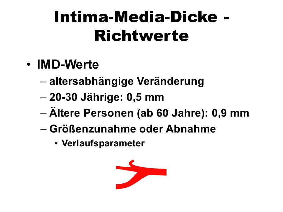 Intima-Media-Dicke - Richtwerte