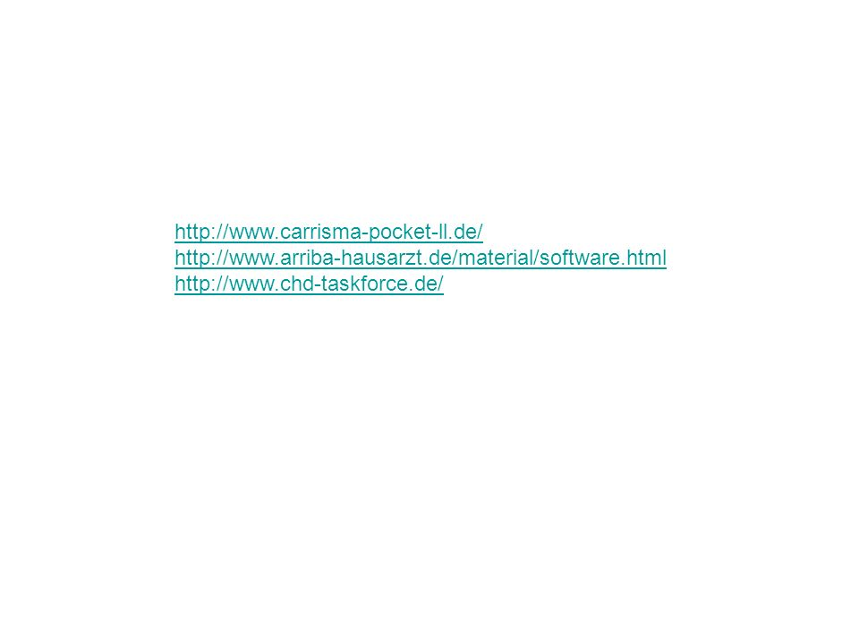 http://www.carrisma-pocket-ll.de/ http://www.arriba-hausarzt.de/material/software.html.