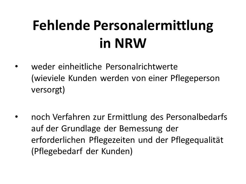 Fehlende Personalermittlung in NRW