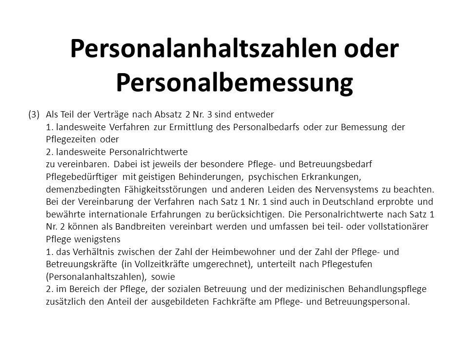Personalanhaltszahlen oder Personalbemessung