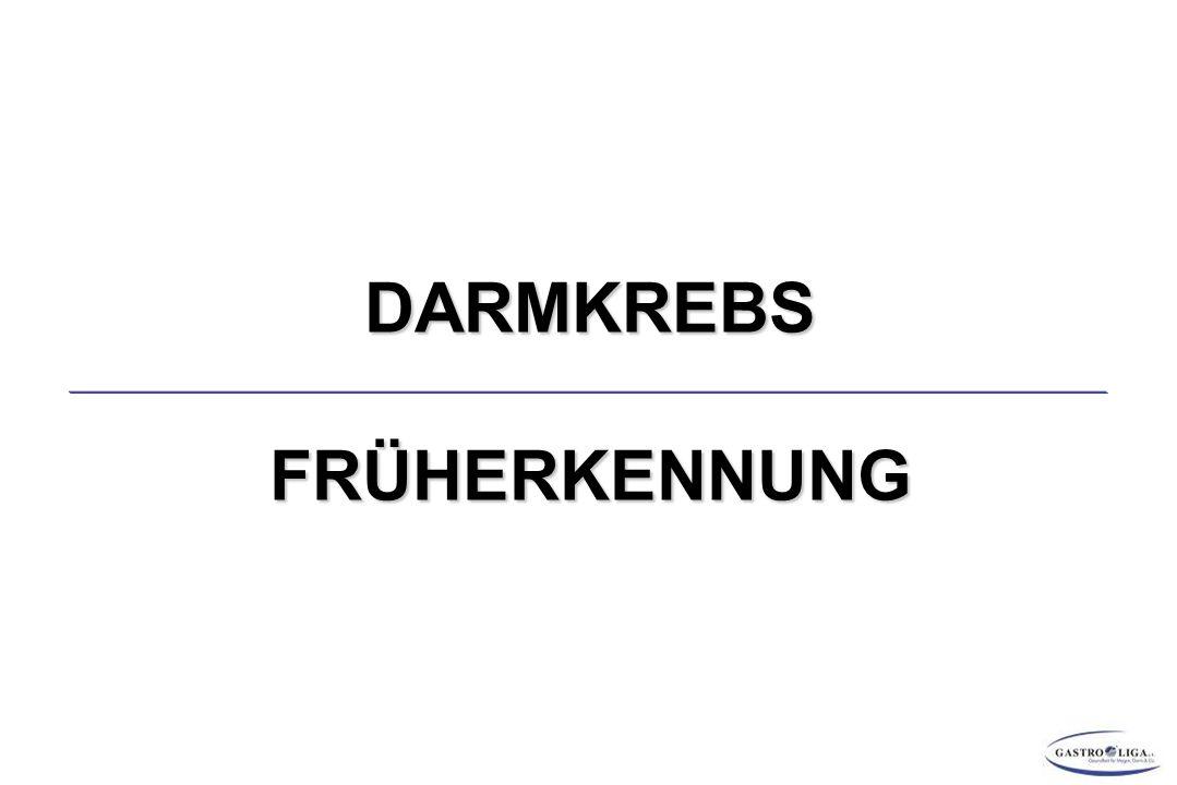 DARMKREBS FRÜHERKENNUNG