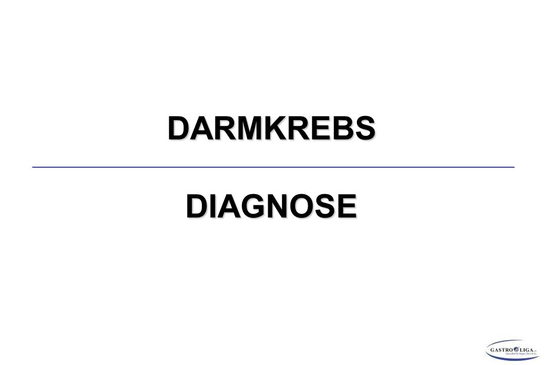 DARMKREBS DIAGNOSE