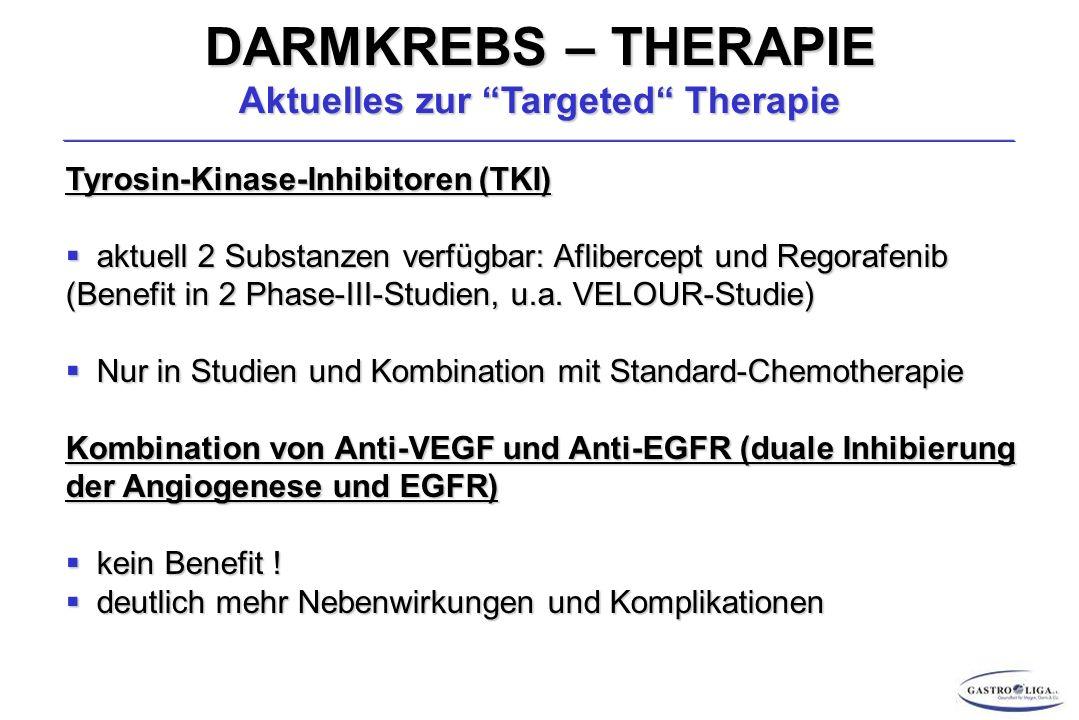 DARMKREBS – THERAPIE Aktuelles zur Targeted Therapie