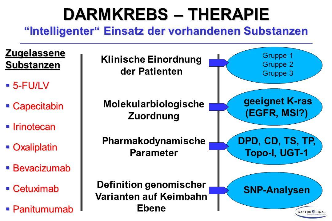 DARMKREBS – THERAPIE Intelligenter Einsatz der vorhandenen Substanzen