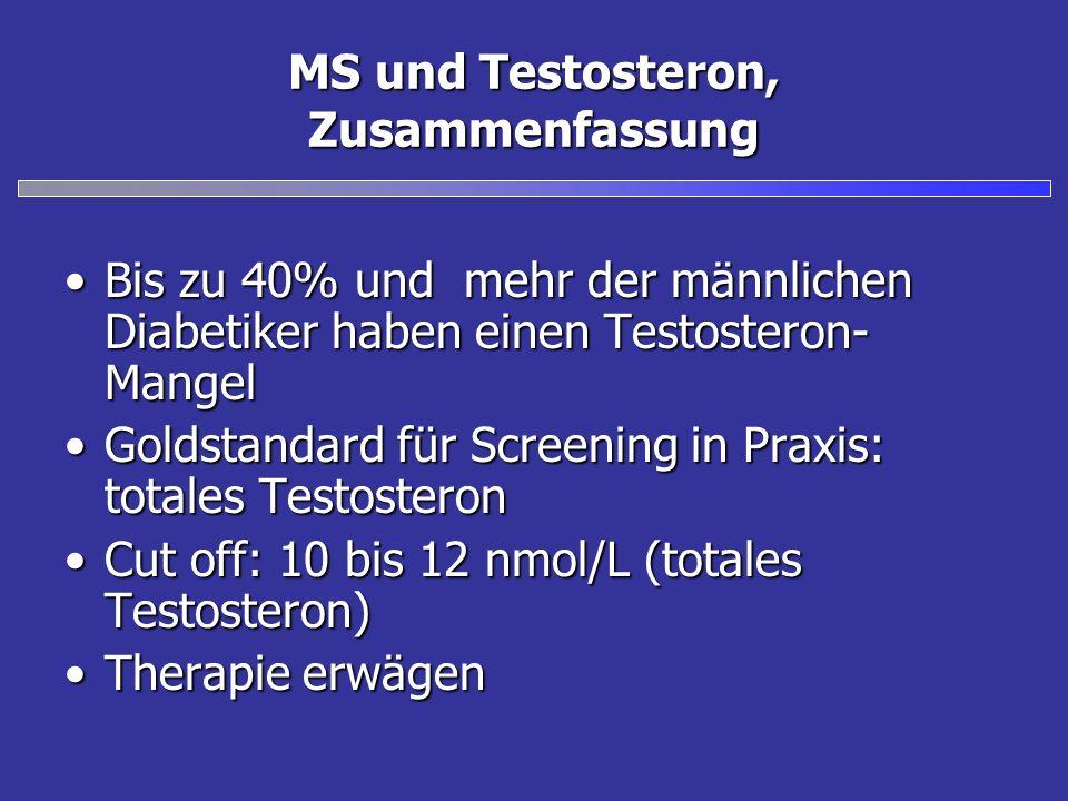 MS und Testosteron, Zusammenfassung
