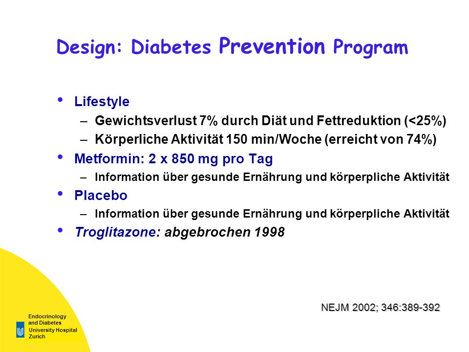 Design: Diabetes Prevention Program