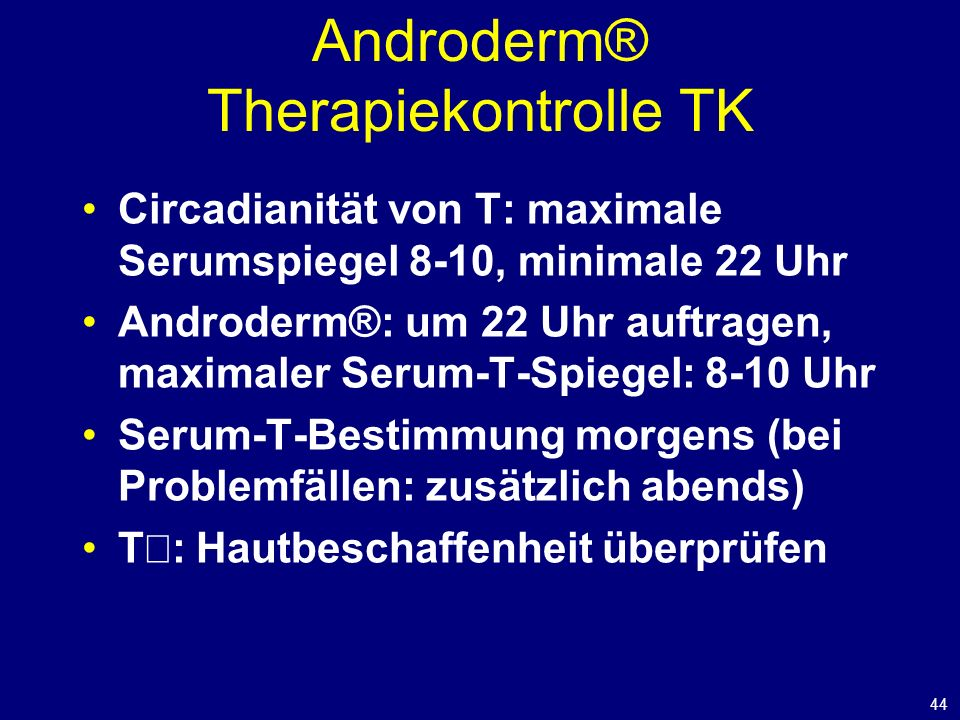 Androderm® Therapiekontrolle TK