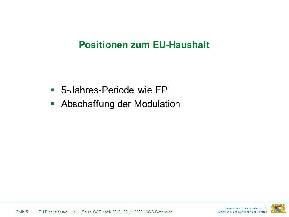 Positionen zum EU-Haushalt