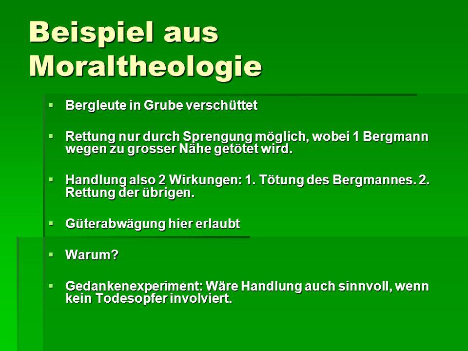 Beispiel aus Moraltheologie