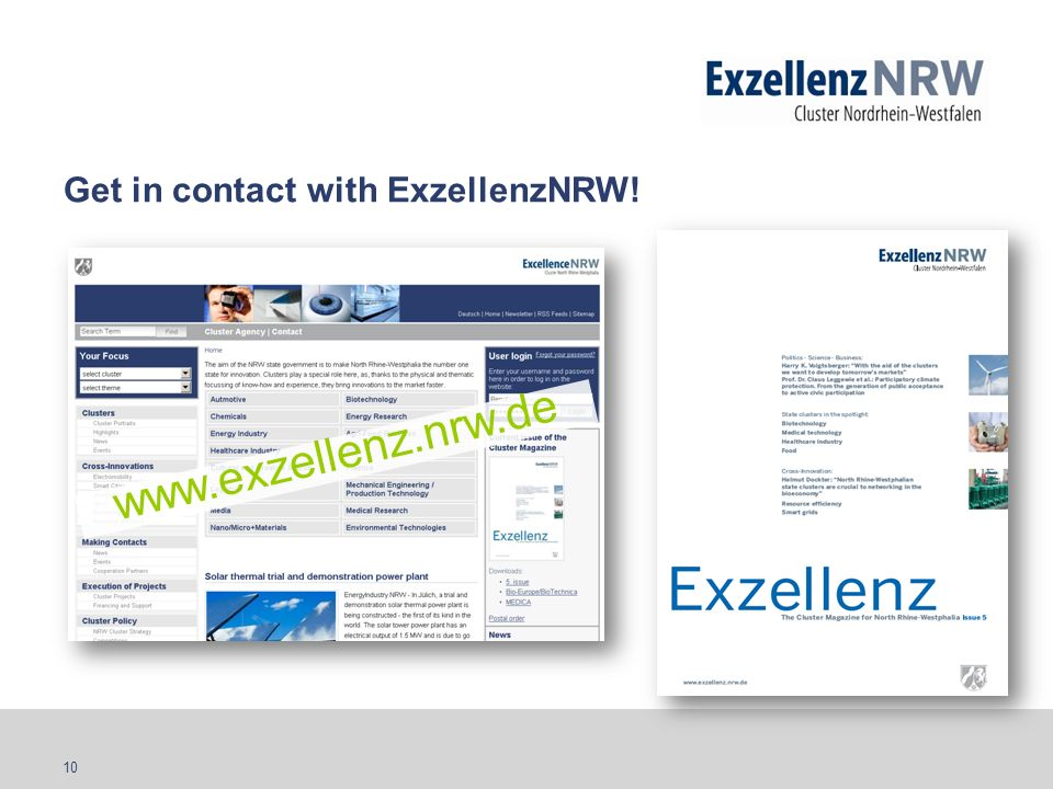 Get in contact with ExzellenzNRW!