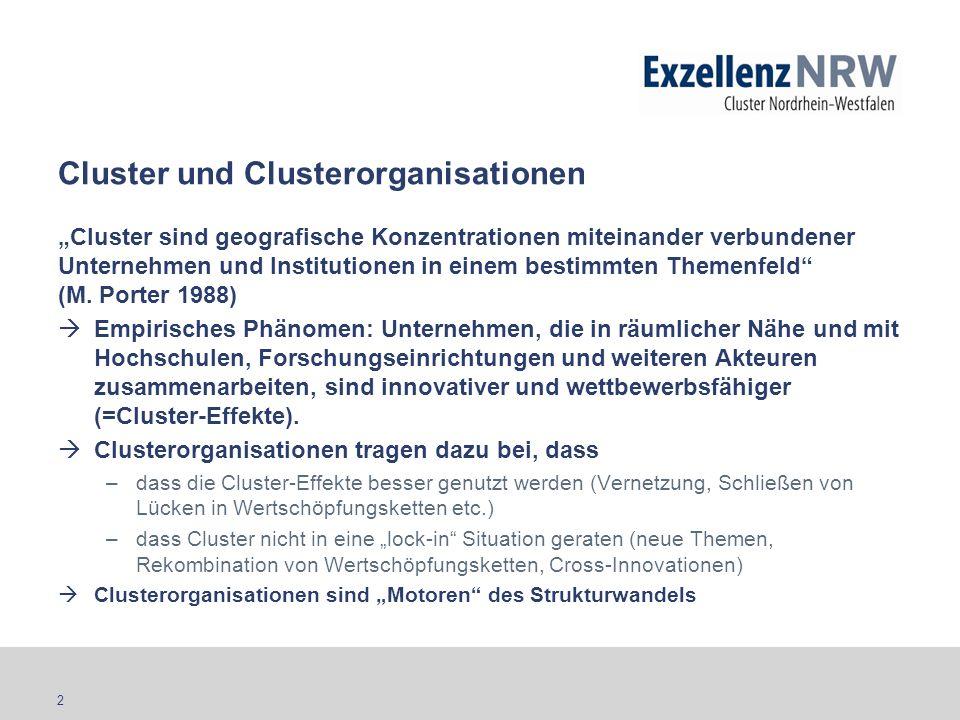 Cluster und Clusterorganisationen