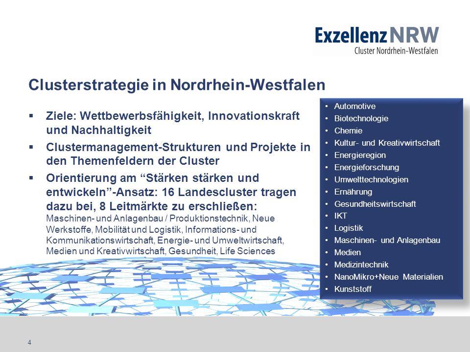 Clusterstrategie in Nordrhein-Westfalen