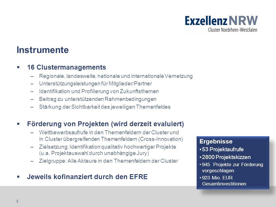 Instrumente 16 Clustermanagements