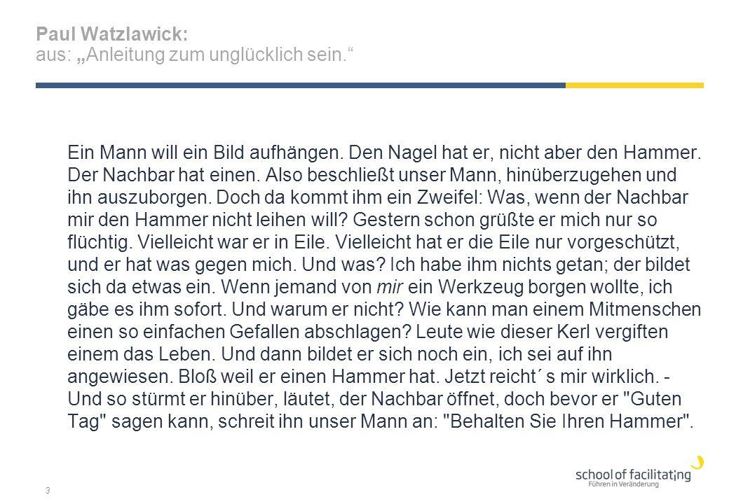 """Paul Watzlawick: aus: """"Anleitung zum unglücklich sein."""