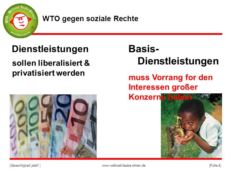 WTO gegen soziale Rechte