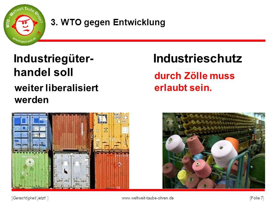 Industrieschutz Industriegüter-handel soll