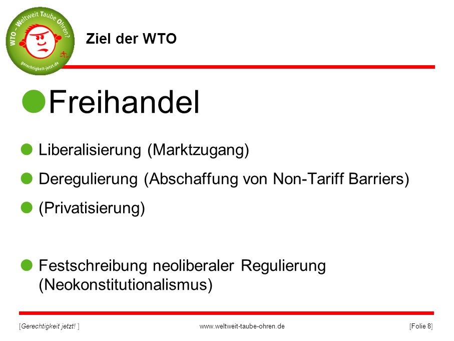Freihandel Liberalisierung (Marktzugang)