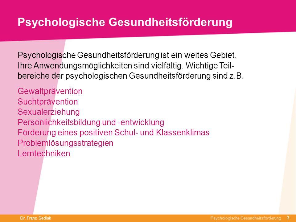 Psychologische Gesundheitsförderung