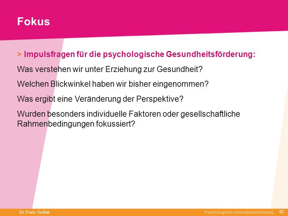 Fokus > Impulsfragen für die psychologische Gesundheitsförderung: