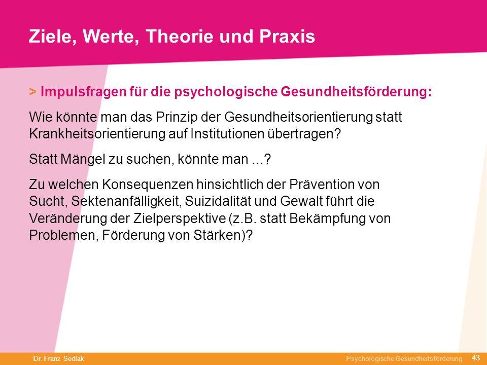 Ziele, Werte, Theorie und Praxis