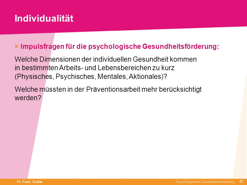 Individualität > Impulsfragen für die psychologische Gesundheitsförderung: