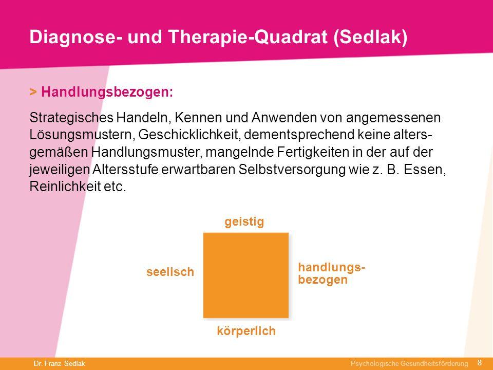 Diagnose- und Therapie-Quadrat (Sedlak)