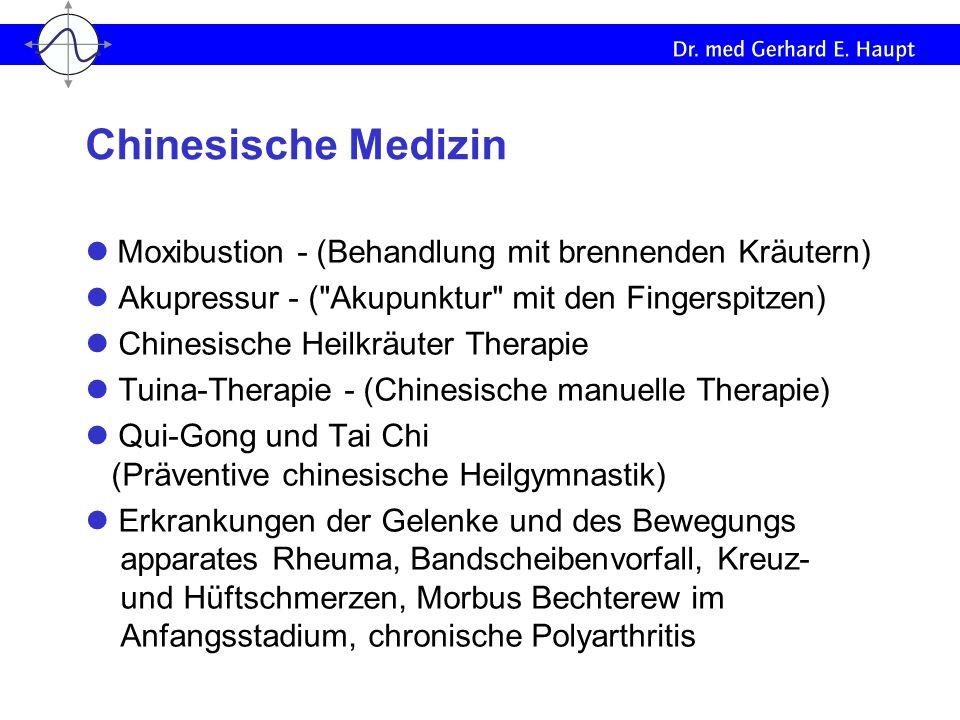 Chinesische Medizin l Moxibustion - (Behandlung mit brennenden Kräutern) l Akupressur - ( Akupunktur mit den Fingerspitzen)