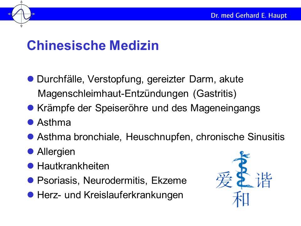 Chinesische Medizin l Durchfälle, Verstopfung, gereizter Darm, akute