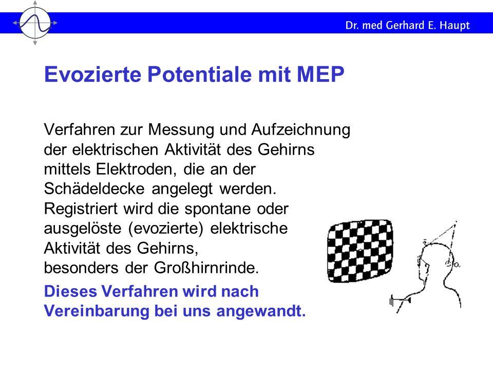 Evozierte Potentiale mit MEP