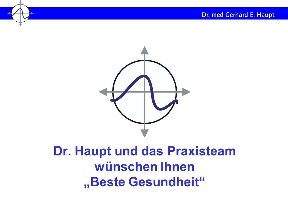 """Dr. Haupt und das Praxisteam wünschen Ihnen """"Beste Gesundheit"""