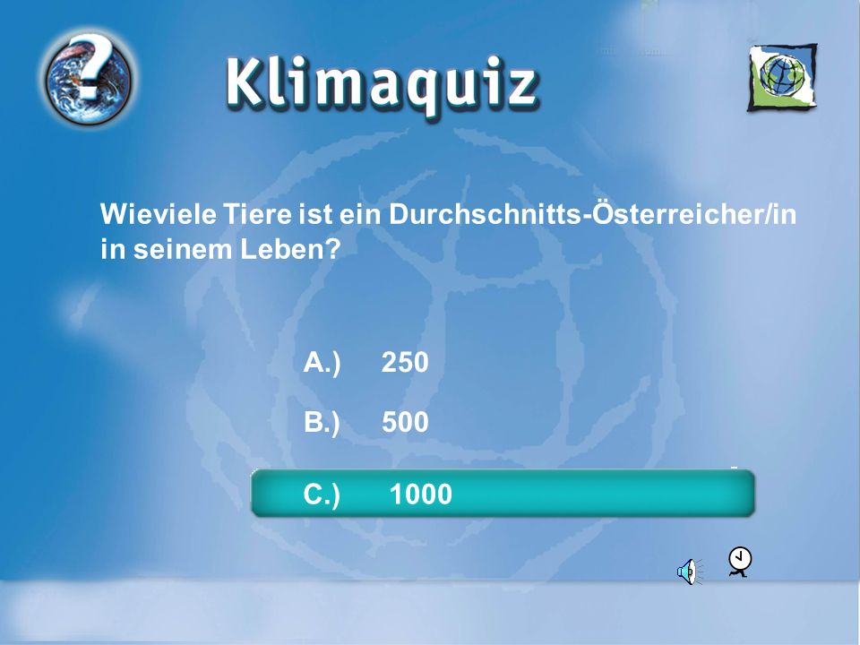 Wieviele Tiere ist ein Durchschnitts-Österreicher/in in seinem Leben