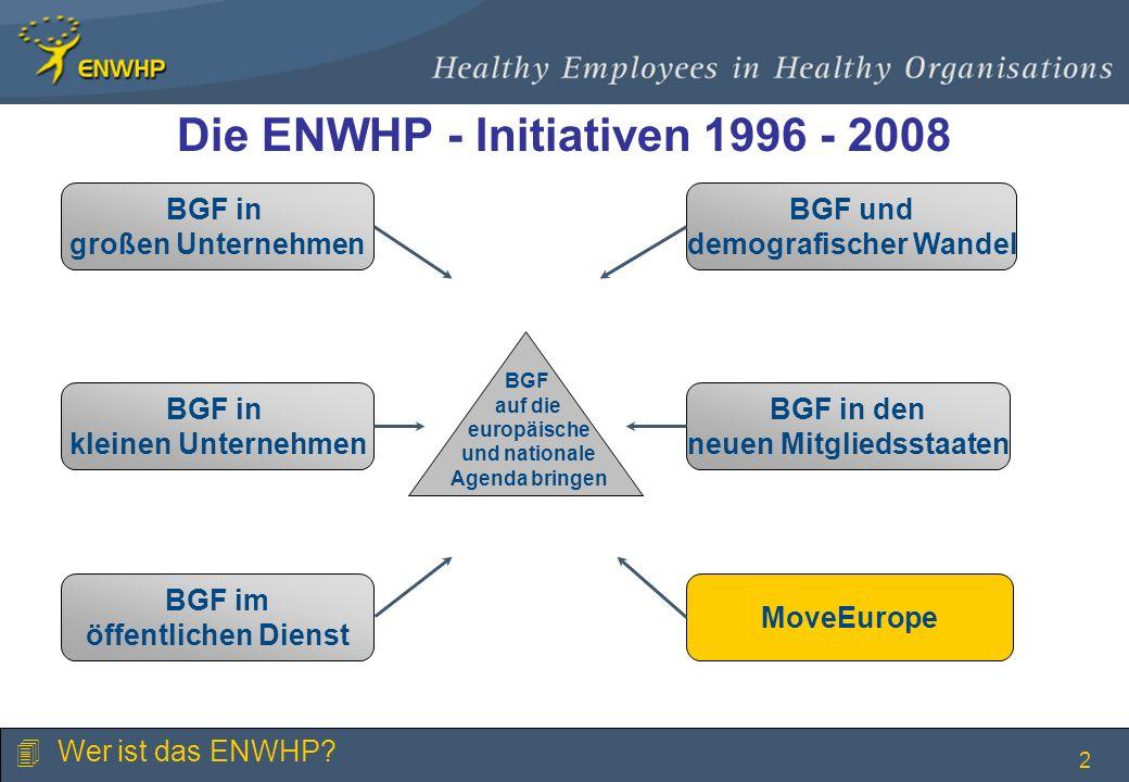 Die ENWHP - Initiativen 1996 - 2008