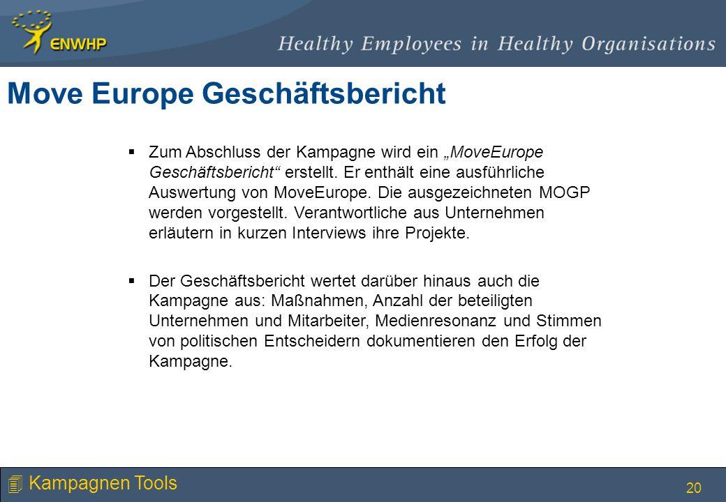 Move Europe Geschäftsbericht