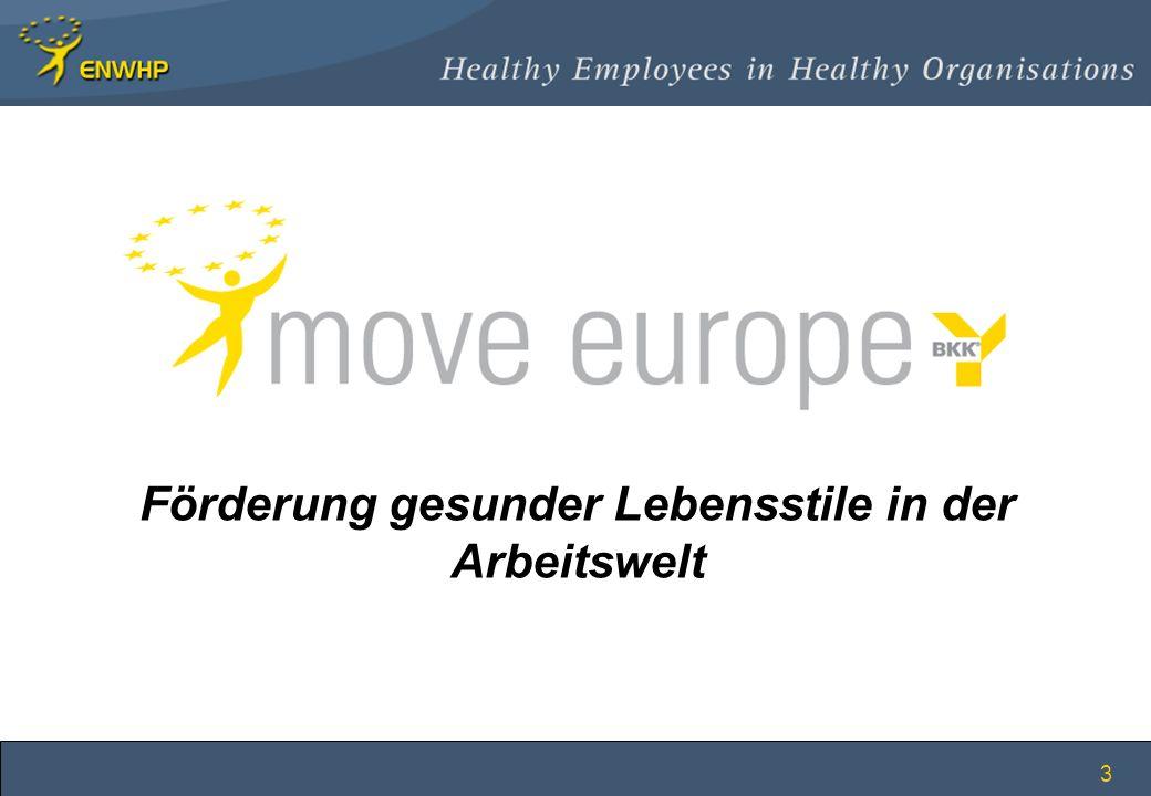 Förderung gesunder Lebensstile in der Arbeitswelt