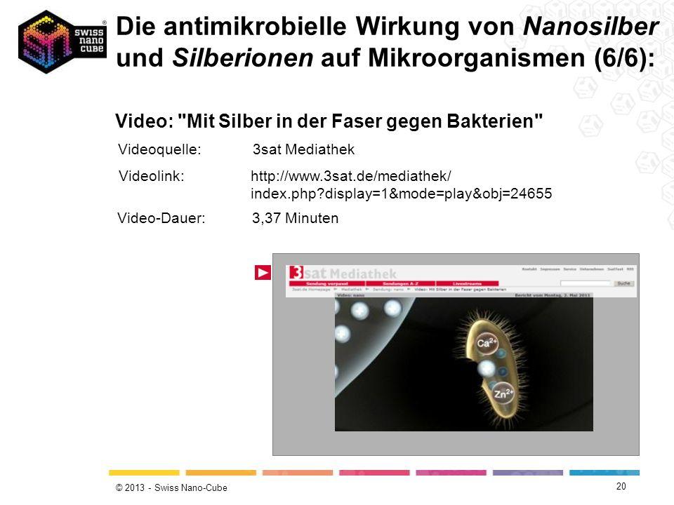 Die antimikrobielle Wirkung von Nanosilber und Silberionen auf Mikroorganismen (6/6):