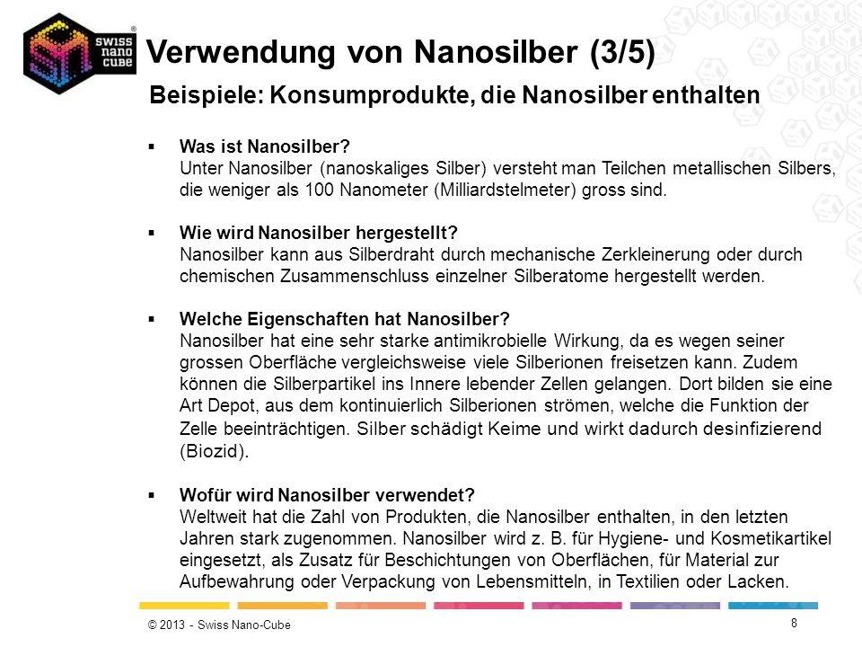 Verwendung von Nanosilber (3/5)